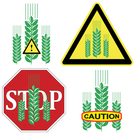allergic foods: Caution Grain Product  Beware of Gluten in grains like wheat, barley, rye and processed foods due to allergic reaction