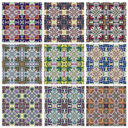 mayas: Ethno Pattern  Seamless vector textures with spiritual symbols from all around the world, perfect for prints on textiles and quilts