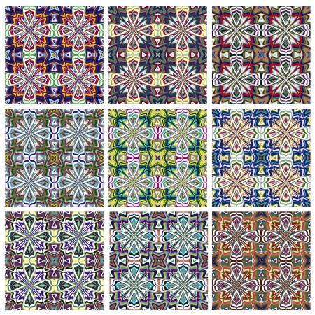 Sans soudure textures vecteur de motif ethno avec des symboles spirituels de partout dans le monde, idéal pour les impressions sur les textiles et les courtepointes Vecteurs