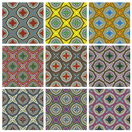 Ethno Pattern  Seamless vector textures with spiritual symbols from all around the world, perfect for prints on textiles and quilts