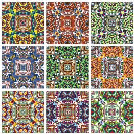 Sans soudure textures vecteur de motif ethno avec des symboles spirituels de partout dans le monde, idéal pour les impressions sur les textiles et les courtepointes