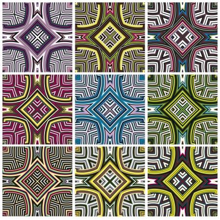 zimbabwe: Patrón Zimbabwe modernos textil texturas sin fisuras desde el sur de África con motivos artísticos