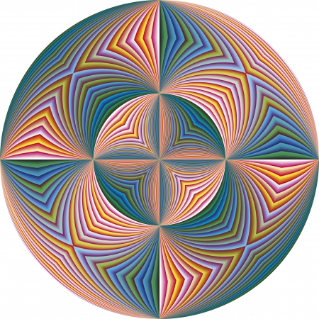 sophisticated: Modern Holy Cross derived from ancient motifs in vivid and brilliant colors in sophisticated vector art with 215 shades of colors