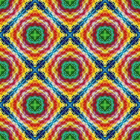voguish: Indian tribal pattern, trendy and fashionable with spiritual motifs, seamless in vivid and lucid colors