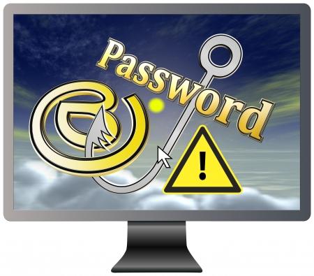 datos personales: Proteja su correo electr�nico y contrase�a Concepto de seguridad de los datos personales y la intimidad Foto de archivo