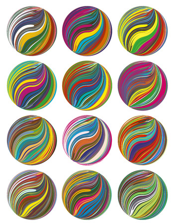 Company Signs for Artists  Design elements in vivid and brilliant colors for people in the art business, painters, interior designers Vector