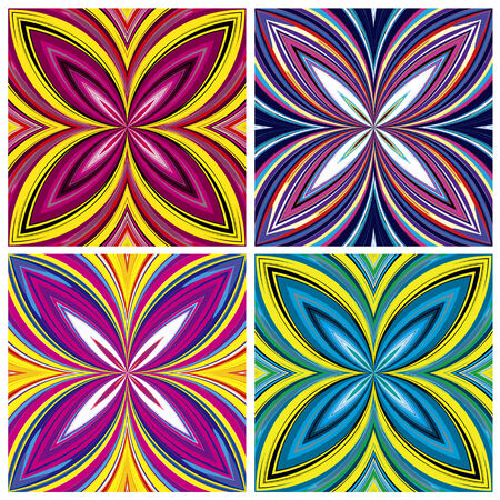 vivacious: African Pattern Set  Stylish trendy design in vivid and lucid colors, seamless
