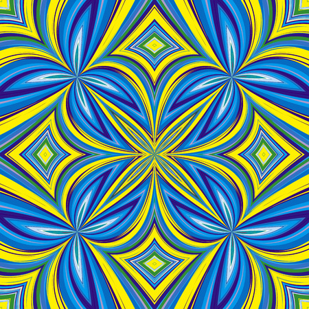 African Pattern  Trendy ethnic textile design in vivid and lucid colors, seamless