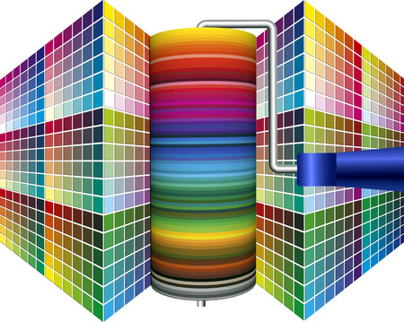 color range: World of Paint, world of Colors  Advertising poster and presentation for the painting and printing industry and for interior design