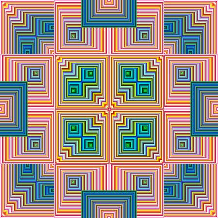 モダンアート: 精神的なパターン、調和、結束および近代美術でシームレスな心の平和のシンボル 写真素材