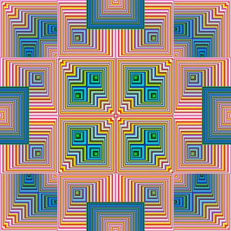 inward: Spiritual Pattern, symbol for harmony, unity and peace of mind, seamless in modern art