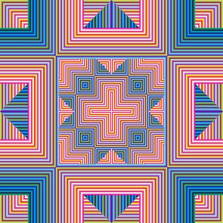 modern art: Patr�n espiritual, s�mbolo de la armon�a, la unidad y la paz de la mente, sin costura en el arte moderno