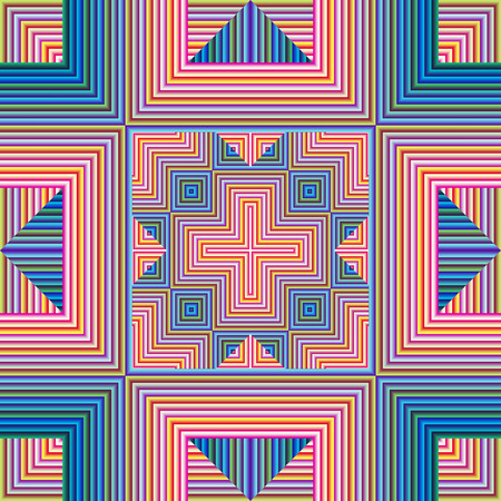 modern art: Spiritual Pattern, symbol for harmony, unity and peace of mind, seamless in modern art