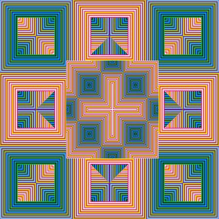 モダンアート: 精神的なパターン、調和、統一と現代美術ではシームレスに、心の平和のシンボル