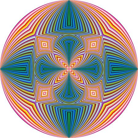 モダンアート: 現代美術のラウンドの精神的なパターン、調和、結束と、心の平和のシンボル