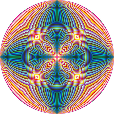modern art: Spiritual Pattern, symbol for harmony, unity and peace of mind, round in modern art