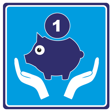 investment concept: Secure Investment  Concept of risk free investment or capital expenditure with piggy bank symbol Illustration