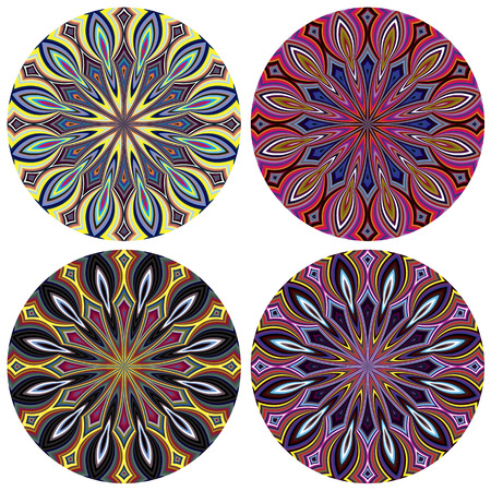 sacral chakra: Sacred Geometry Pattern  Modern Flower of life design Illustration