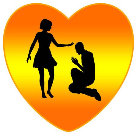 confess: Forgiveness Fills Hearts with Love as religious concept