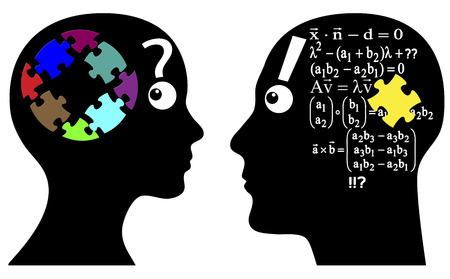Intuïtie of Berekening Man en vrouw op te lossen problemen anders, door instinct of met analytische formule