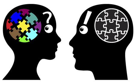 perceptie: Wie meer creatieve Man en vrouw verschillen in de verbeelding, mentaliteit en beleving