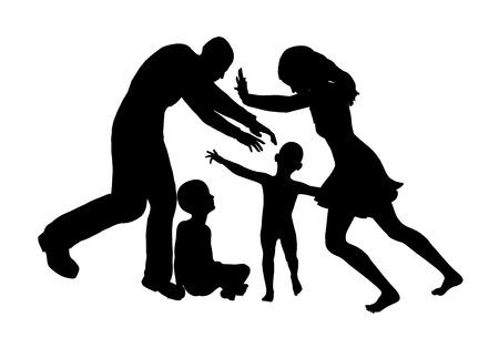부모가 단독 양육권 싸움을 할 때 양육권 싸움 주요 피해자는 아이들입니다 스톡 콘텐츠 - 27331620