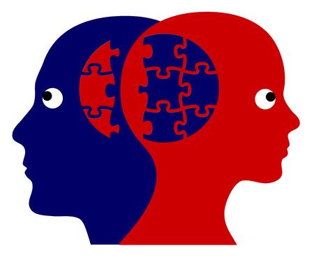 男と女の成功コラボレーションのための完璧なチーム シンボル