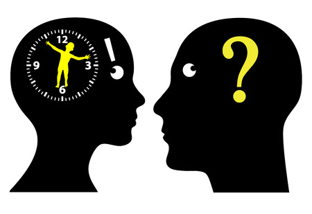 Biological Clock Ticking  Couple thinking to have children, is it high time  Banque d'images