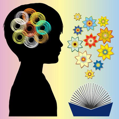 psicologia infantil: Libros de cuentos infantiles creativos desarrollan fantasía vívido, el poder del cerebro, la imaginación