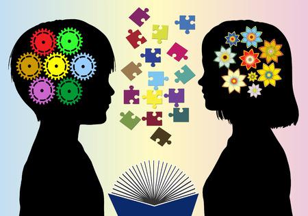 Andere mindset Jongens en meisjes ontwikkelen verschillende manier van denken en vaardigheden