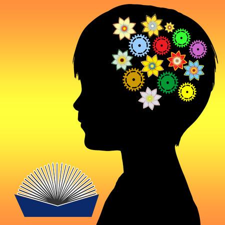 幼児期の子供たちに子開発読書想像力、知性と創造性の促進の重要な役割を果たしています。 写真素材
