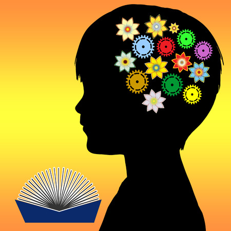 cognitive: Child Development  Reading to children in early childhood plays a vital role in the promotion of imagination, intelligence and creativity Stock Photo