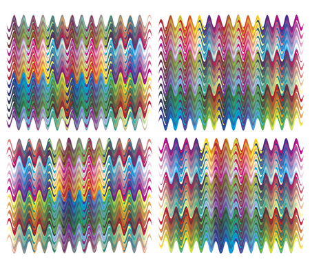 craze: Trendy textile design  Fancy pattern in 216 vivid color tones, which can be infinitely reorganized  Illustration