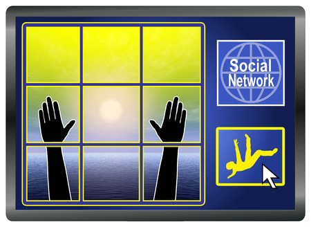 Social Network Depression  Frequent users of Social Media can fall ill with emotional and psychological disorders photo