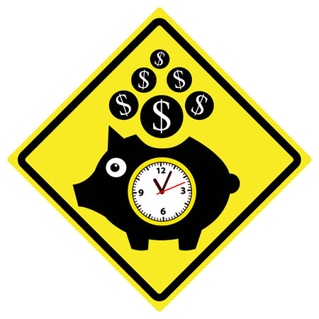 opportunity sign: Time is Money Concept  Famous phrase used by Benjamin Franklin meaning that time has value just as money Stock Photo