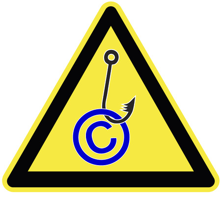 violating: Copyright Infringement Symbol  Concept and sign for copright misuse and fraud