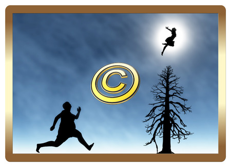 Protect your Copyright  Watch out for your private online images from being misused Stockfoto