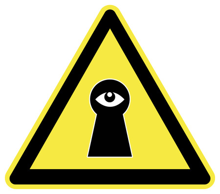 controll: Caution Spy  Privacy at stake through surveillance, concept of Big Brother is watching you