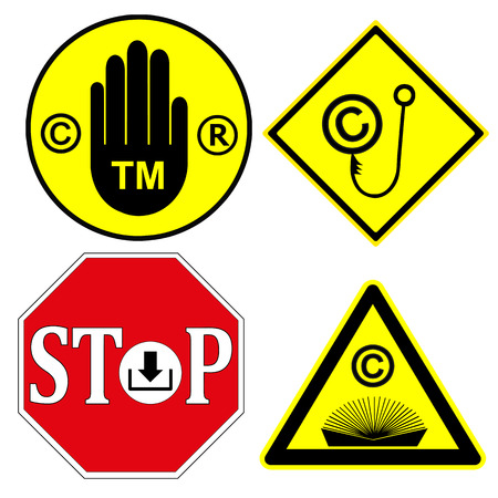 watch out: Watch out for Copyright and Trademark  Be aware, that products or services with these signs are protect by law