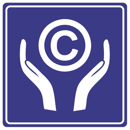 property rights: Protect the Copyright  Kind reminder notice to consider copyright as intellectual property and not to misuse it and infringe the law Stock Photo