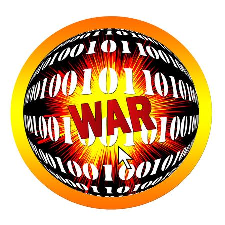 cyber warfare: Digital warfare  Declaration of war by one mouse click