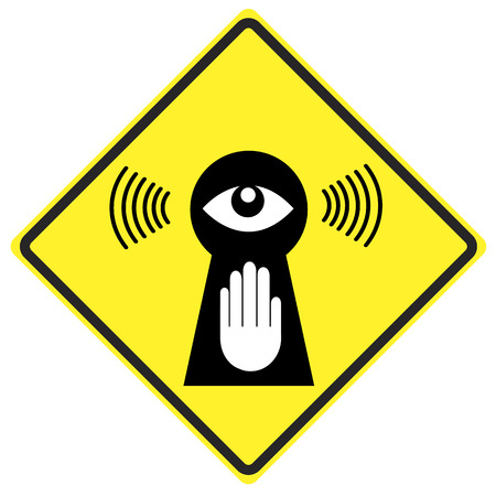 eavesdropper: Stop eavesdropping  Privacy at stake through surveillance, stop Big Brother watching you