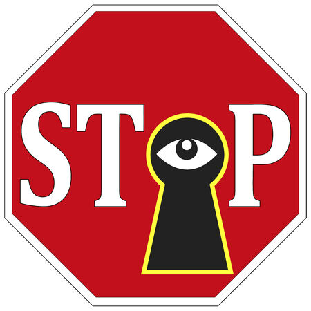 Stop Spying on me  Privacy at stake through surveillance, stop Big Brother watching you
