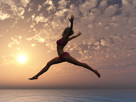 You can fly  Young sexy woman as symbol for self esteem and conficence