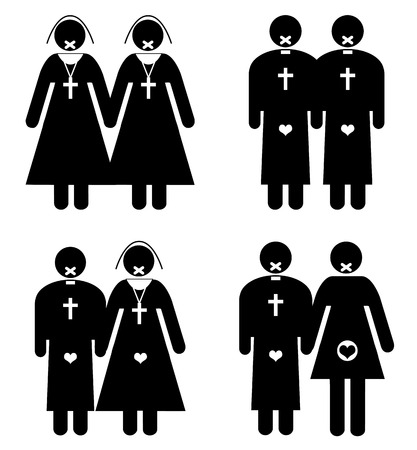 Sexual Taboos of the Church  Sexual relationships with the seal of secrecy  Stok Fotoğraf