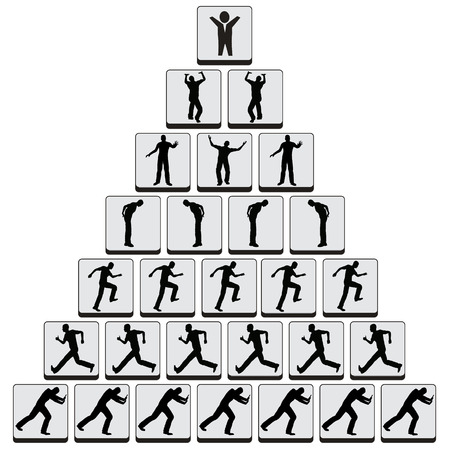 command structure: Job Hierarchy  Concept of negative command structure still widely common in many companies Stock Photo