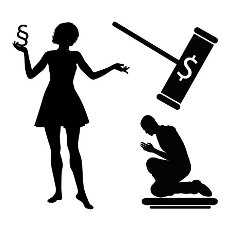 marital: Adultery  Woman is punishing man merciless in reprisal of marital infidelity according to the divorce law with money