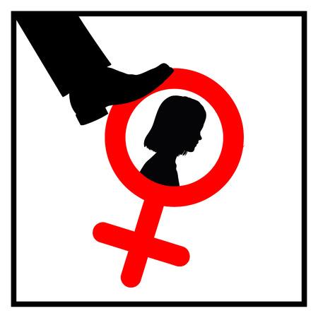 인도 나 중국 같은 나라에서 저장의 여자 아이 캠페인을 태아 여자 개념 기호를 죽이는 중지 스톡 콘텐츠