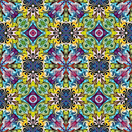 Trendy Native American Pattern  Modern textile derived from ancient tribal motifs in brilliant and vivid colors, seamless Stock Photo - 29293945