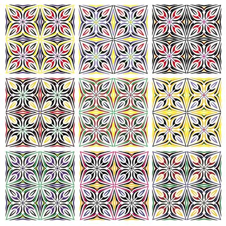 majolica: Italian traditional tile pattern  Mediterranean style of Arabian origin, seamless